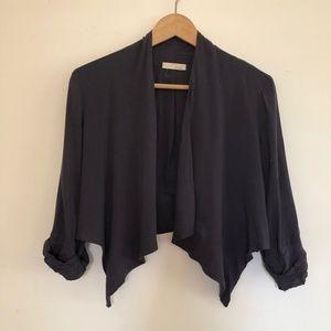 Lush Silk like Cotton Crop Jacket